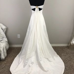Ivory Tie-Back Halter Wedding Dress